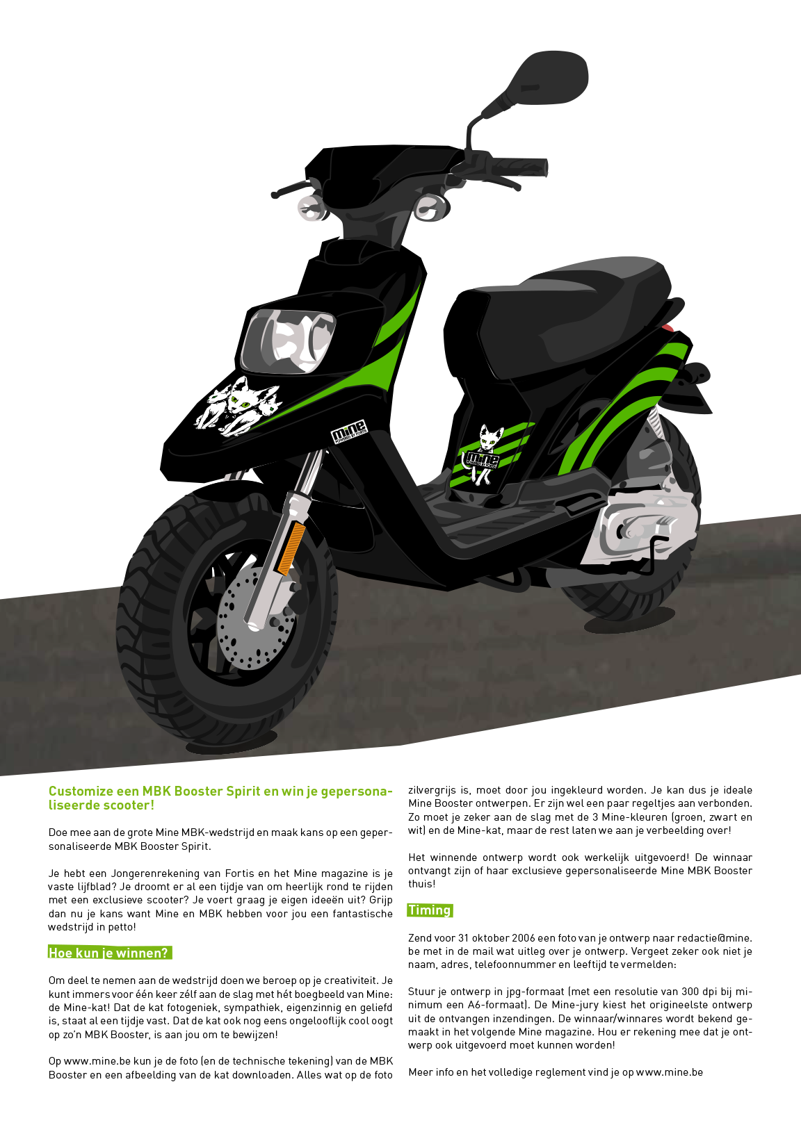 Scooter Graphic and Layout Mine Magazine